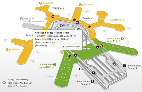 SFO Airport Map